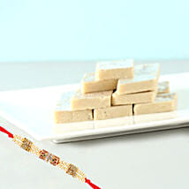 Gorgeous Rakhi And Kaju Katli Sweet Combo: Same Day Gifts to Canada