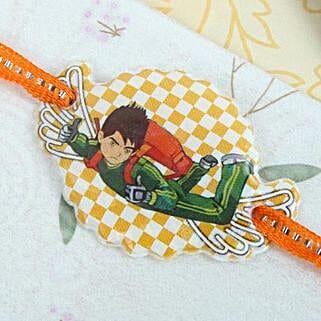 Green Ben 10 Rakhi: Send Rakhi for Kids to Canada
