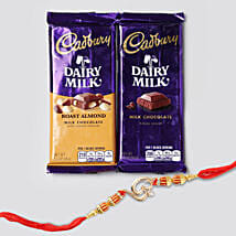 Om Rakhi And Double Cadbury Combo: Same Day Gift Delivery in Canada