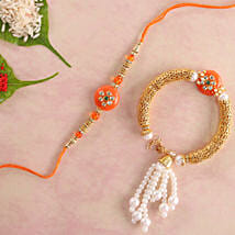 Orange Bhaiya Bhabhi Rakhi: Rakhi for Bhaiya Bhabhi to Canada