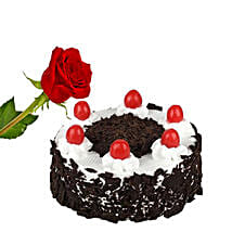 Rose N Black Forest Cake: Flowers and Cakes in Canada