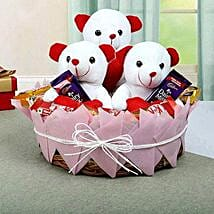 Teddy Bears N Chocolate Combo: Chocolate Delivery Canada