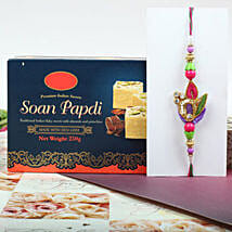 Trendy Rakhi With Soan Papdi: Rakhi with Sweets to Canada