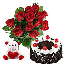 Valentine Black Forest Combo: Rose Day Gift Delivery in Canada