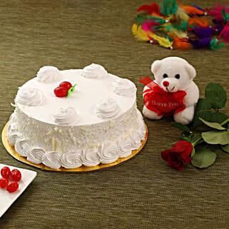 Vanilla Cake Combo: Send Cakes to Canada