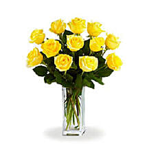 Yellow Roses: Send Birthday Flowers to Canada