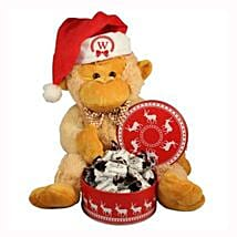 Christmas Treats with Monkey Plush Toy: Send Gifts to Finland