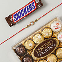 American Diamond Rakhi Chocolates Hamper: Send Rakhi to France