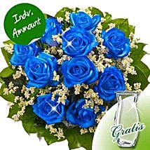 10 blue roses: Womens Day Gifts to Germany