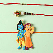 Bhaiya Bhabhi Krishna Rakhi Set: Rakhi for Bhaiya Bhabhi to Germany