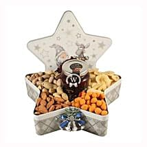 Christmas Star with Nuts: Christmas Gift Hampers to Germany