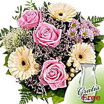 Flower Bouquet Ballade with vase: Valentine's Day Bouquet in Germany