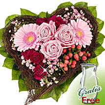 Flower Bouquet Herzenswunsch: Thank You Flowers Germany