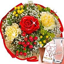 Flower Bouquet Tango With Vase and Merci: Sending Flowers to Germany