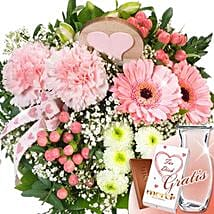 Flower Bouquet Zarte Grube With Vase and Merci: Sending Flowers to Germany