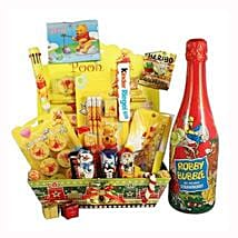 Pooh School Sweet Creative Set XL with Kids Champagne: Christmas Gift Hampers to Germany