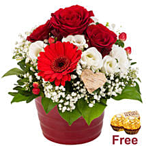Red Rose Arrangement With Chocolates: Send Flowers to Germany