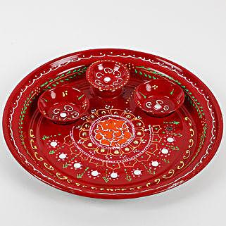 Special Puja Thali For Rakhi Tilka: Rakhi Pooja Thali Germany