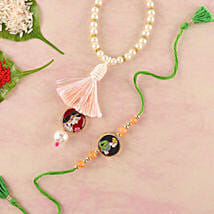 Spectacular Lumba Rakhi Set: Rakhi for Bhaiya Bhabhi to Germany