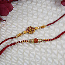 Swastik Rudraksh Rakhi Set: Send Rakhi to Berlin
