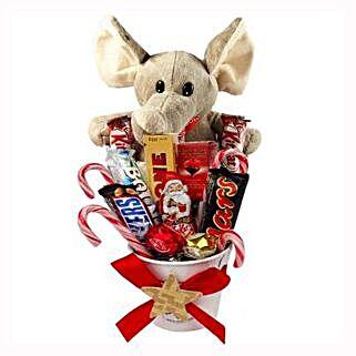 Sweet Elephant Christmas Bucket: Christmas Gift Hampers to Germany