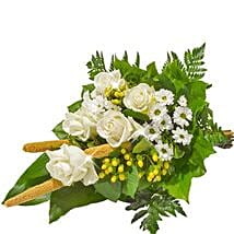 Sympathy Bouquet in White: Thank You Flowers to Germany