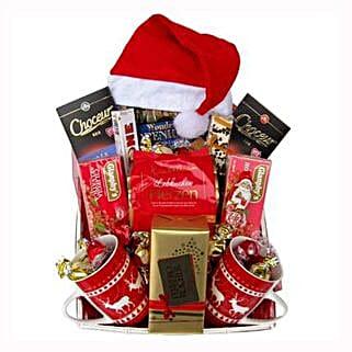 Santa Christmas Tea Basket: Send Gifts to Greece