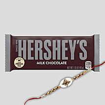 Hersheys Milk Chocolate And Rakhi Combo: Rakhi Delivery in Hong Kong