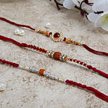 Three Beautiful Rakhi Set: Rakhi Gifts to Hungary