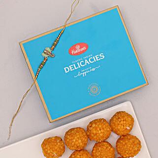 Ganesha Rakhi And Boondi Laddu Combo: Send Rakhi With Sweets To Indonesia