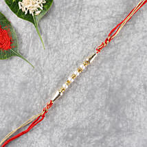 Glittering Set Of Two Rakhis: Set of 2 Rakhi Delivery in Indonesia