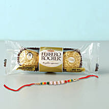 Rocher Special Beads Rakhi Combo: Send Rakhi With Chocolates To Indonesia