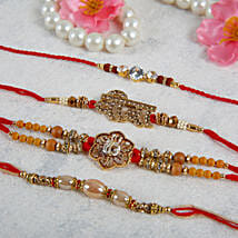 Veera Rakhi Set with Designer Rakhis: Rakhi Delivery in Ireland