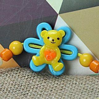 Cute Little Teddy Rakhi KEN: Send Rakhi to Kenya