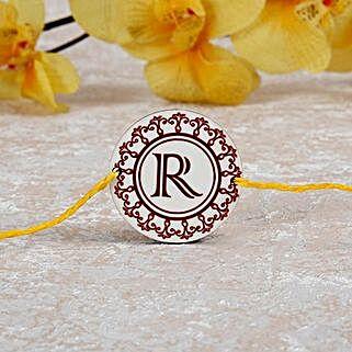 Personalized Rakhi With Initial: Send Rakhi to Kenya