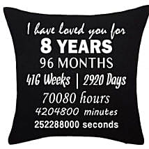Anniversary Special Printed Cushion: Send Gifts to Kuwait