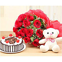 Passion Of Love Gift Combo: Mother's Day Cakes to Kuwait
