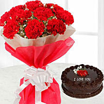 Passionate Love Combo: Valentines Day Cakes in Kuwait