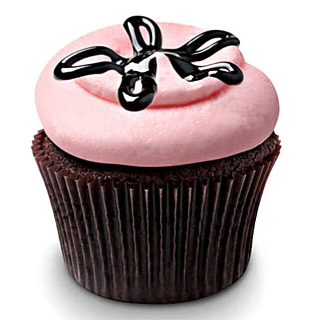 12 Strawberry Lava Fudge Cupcake by FNP