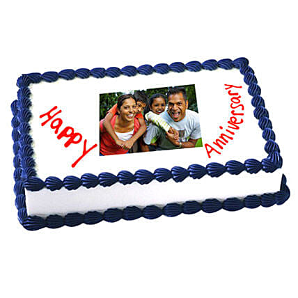 1kg Anniversary Photo Cake Eggless by FNP