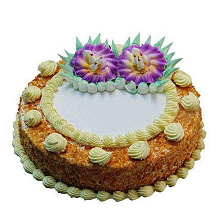 1kg Eggless Butterscotch Radiance Cake by FNP