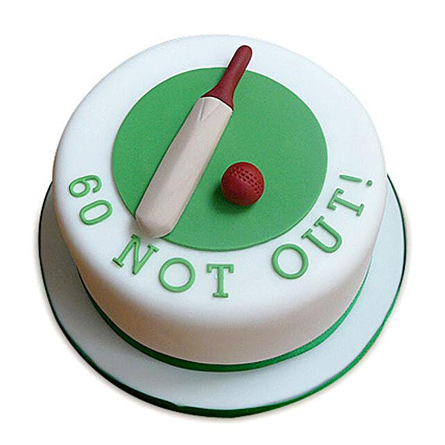60 Not Out Designer Cake 1kg Butterscotch