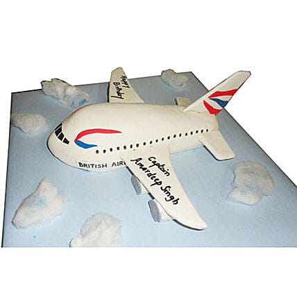 Airplane Cake 4kg Eggless Black Forest