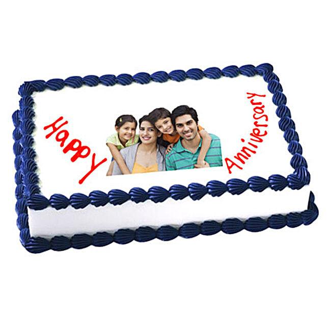 Anniversary Photo Cake 3kg Vanilla