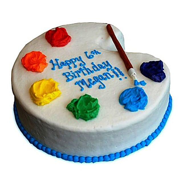 Artist Birthday Cake 3kg Eggless Truffle