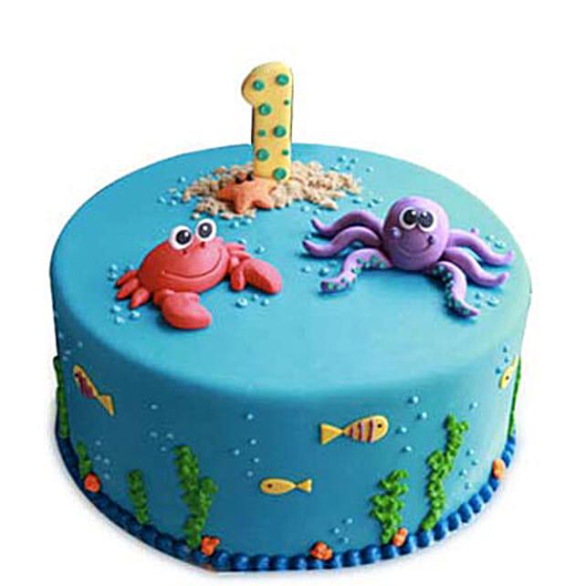 Baby Sea Animals Cake 4kg Eggless Butterscotch