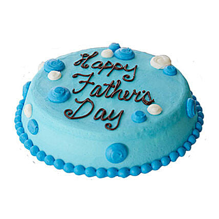 Blue Cream Fathers Day Cake 1kg Eggless