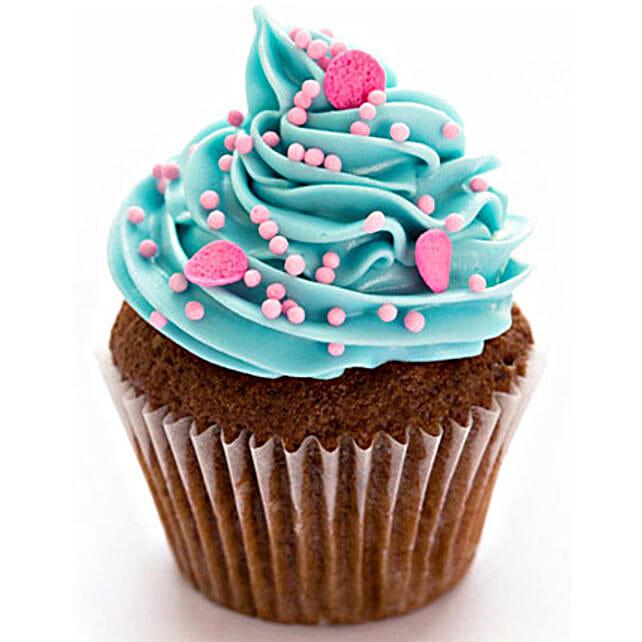 Blue Pink Fantasy Cupcakes 6 Eggless