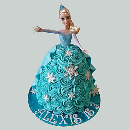 Blue Roses Barbie Cake Black Forest 2kg