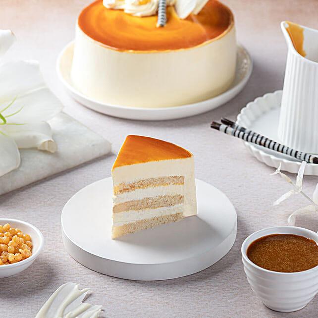 Butterscotch Cake Half kg Eggless